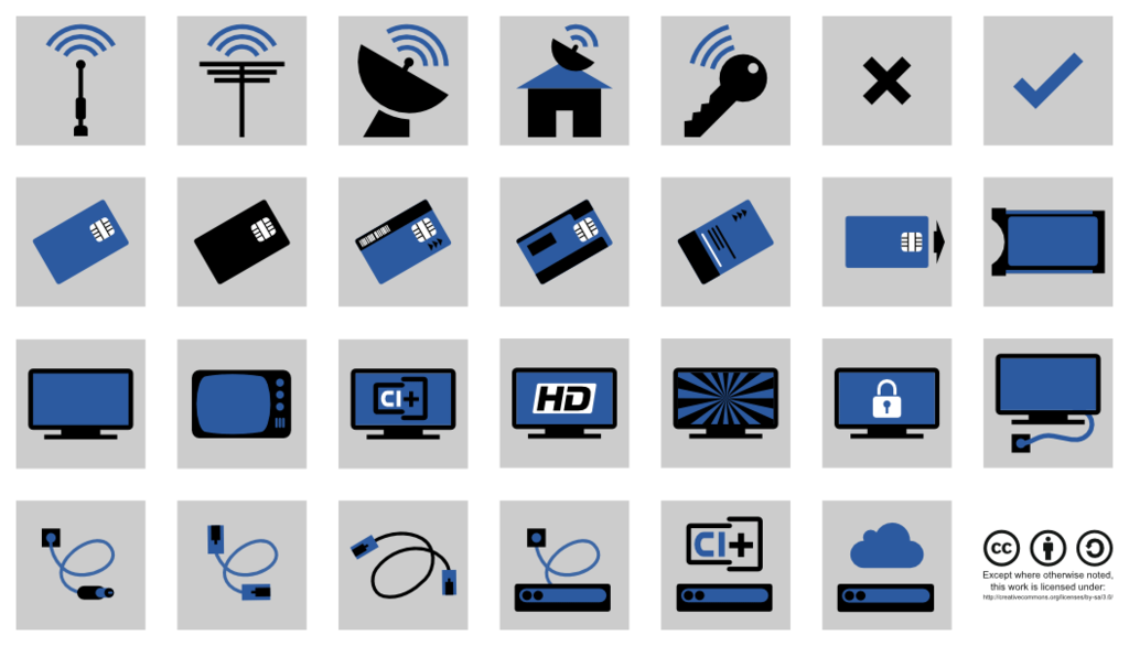 FREE TV, Satellite and Cable Icons Overview