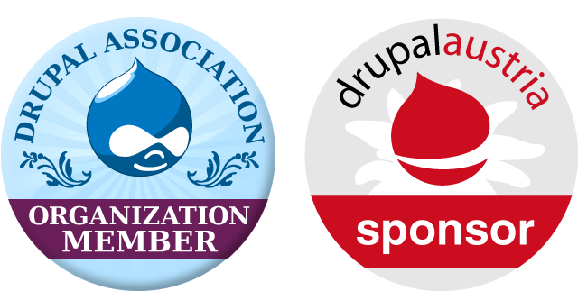 Drupal and Drupal Austria Sponsor Badge