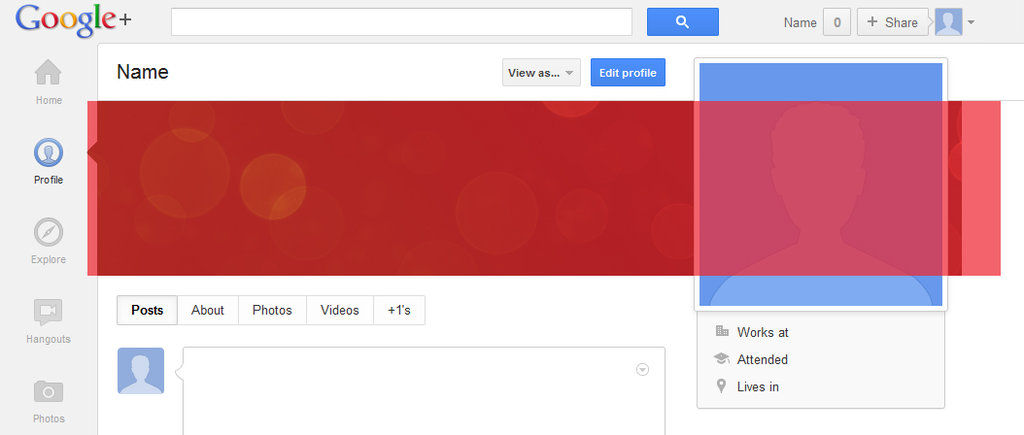 Google Plus profile template | Ausgetrock net