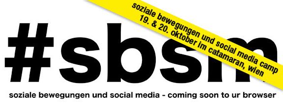 Soziale Bewegungen und Social Media Camp Banner