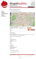 Drupal Austria Website Screenshot Event