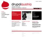 Drupal Austria Website Screenshot Frontpage