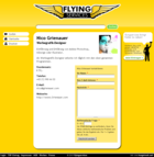 Screenshot Flying Services Website - Anbieter