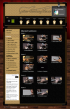 Screenshot Guitar-Academy24 Website - Übersicht Lektionen