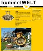 Screenshot Hummelwelt.com Webseite Detailseite eines Hummelhauses