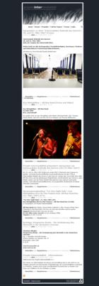 Screenshot Projekt Intermedialität Startseite