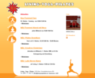 Screenshot Living Yoga Pilates Startseite