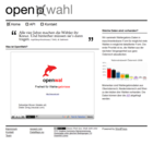 Screenshot open wahl Website - Frontpage