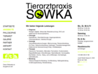 Screenshot Tierarztpraxis Sowka Angebot