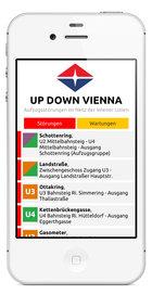 Screenshot Updown Vienna - Aufzugsstörungen im Netz der Wiener Linien