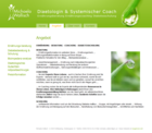 Screenshot Michaela Wallisch Website - Angebot