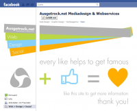 Screenshot Ausgetrock.net Facebook Custom Fan Page Startscreen