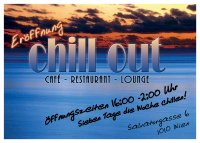 Chill Out Flyer - Eröffnung