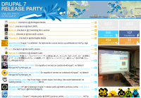 Screenshot Drupal 7 Release Party Wall