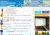Screenshot Drupal 7 Release Party Wall