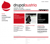 Drupal Austria Website Screenshot Frontpage