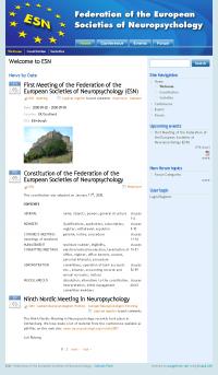 FESN Website Screenshot Front Page