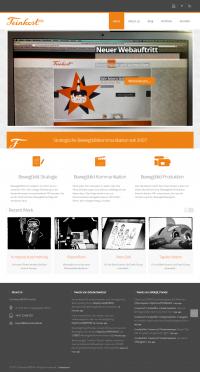 FeinkostMEDIA Website Screenshot - Front Page
