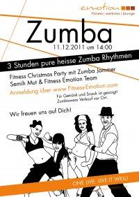 Fitness Emotion Zumba Party Plakat