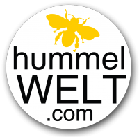 Hummelwelt Logo Weiß