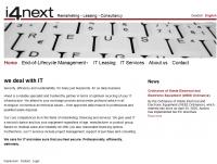 i4next Website Screenshot Frontsite EN