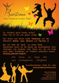Just Dance Flyer Vorderseite