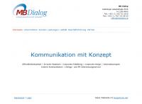 Screenshot MB Dialog Website - Frontpage