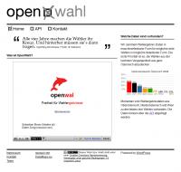 Screenshot open wahl Website - Frontpage