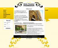 Screenshot Pension Pharmador Startseite