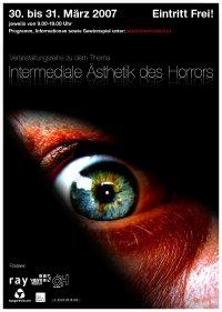 Poster Intermediale Ästhetik des Horrors