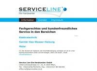 Screenshot Serviceline Website Frontpage
