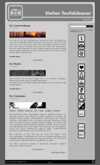 Screenshot Teufelsbauer Website - Übersicht