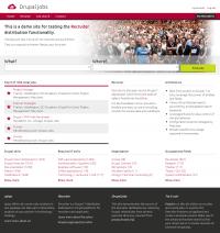 Screenshot Drupal Jobs - Frontpag