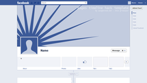 Screenshot Facebook timeline pages template for Photoshop