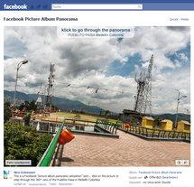 Screenshot Facebook Album Einzelbild des Panoramas