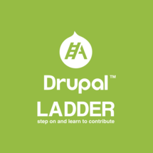 Drupal Ladder Logo WHITE