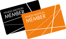 Fitness Emotion Member Cards Black & Orange