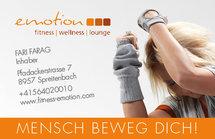Fitness Emotion Visitenkarte Vorderseite