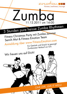 Fitness Emotion Zumba Party Plakat