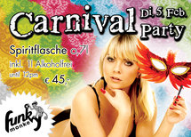 Funky Monkey Carnival Party Flyer
