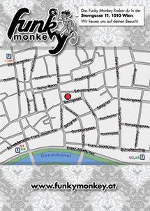 Funky Monkey Flyer Wochenplan Rückseite
