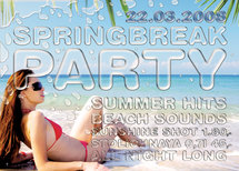 Funky Monkey Springbreak Flyer