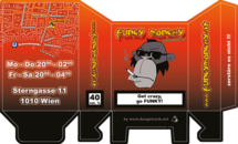 Funky Monkey Zigarettenschachtel Aufgefaltet Version 2