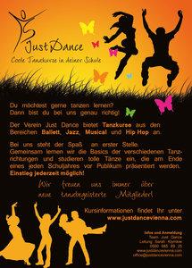 Just Dance Flyer Vorderseite