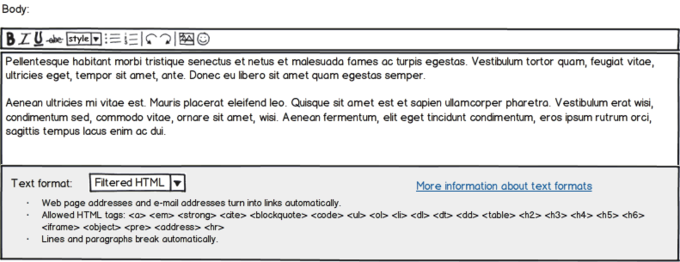 Balsamiq Mockup Screenshot Drupal Body Text