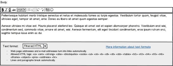 Balsamiq Mockup Screenshot Drupal Body Text