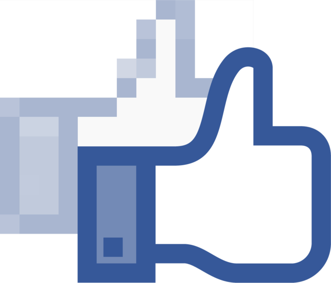 Facebook like hand vectorized