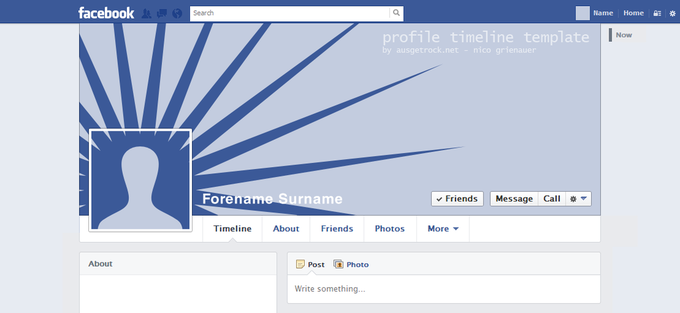Facebook User Timeline Template V1 4
