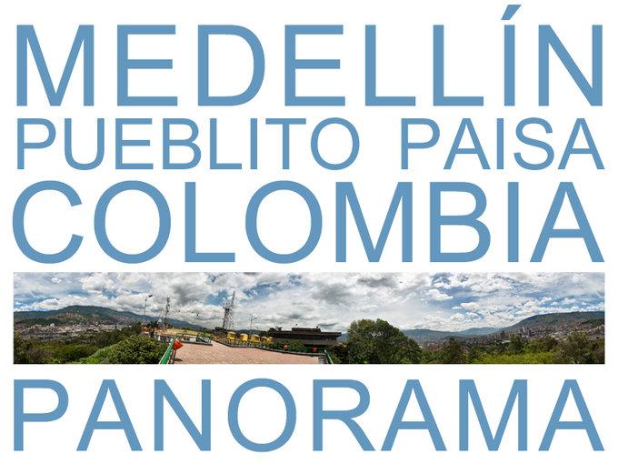 Medellín Pueblito Paisa Colombia Panorama