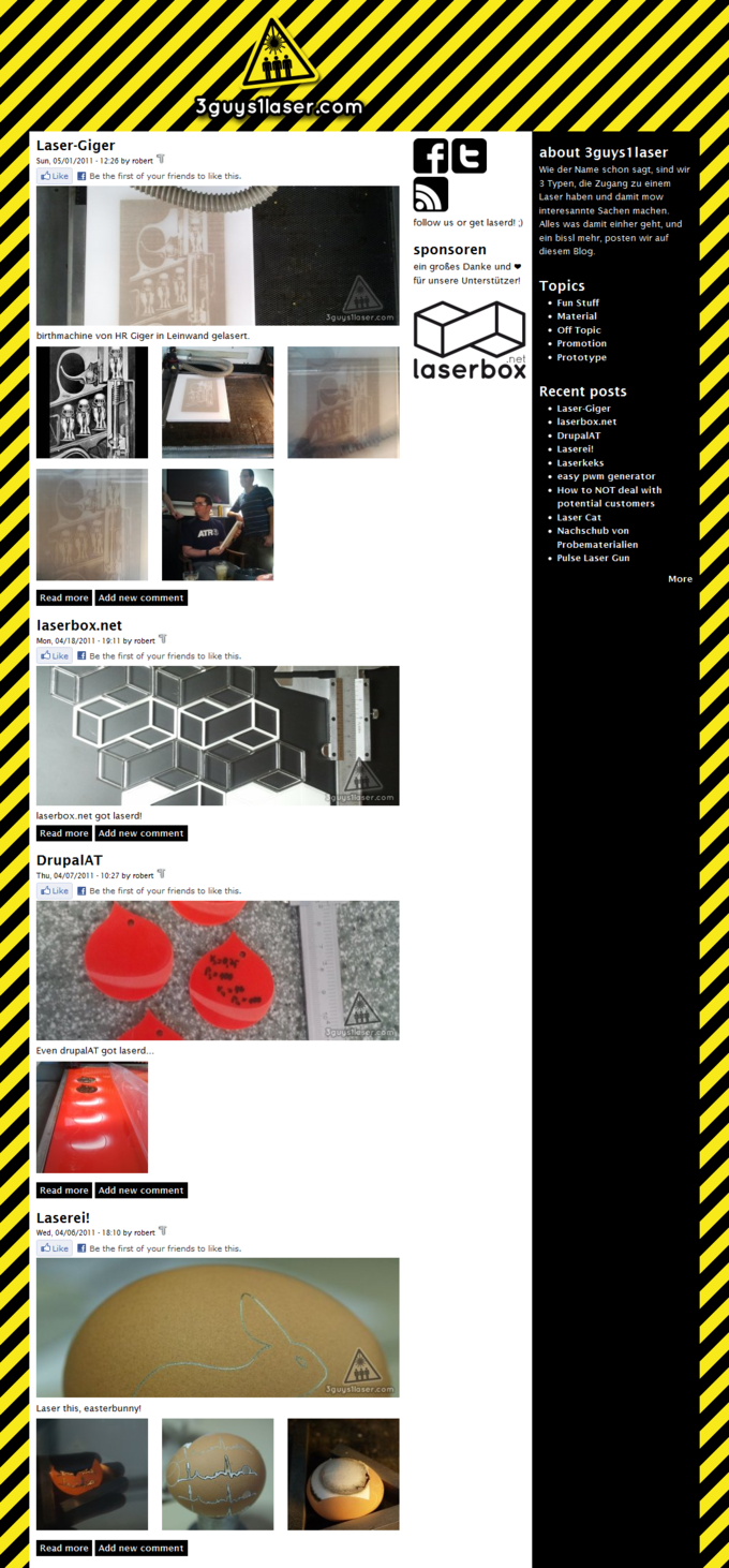 Screenshot 3guys1laser Website - Blog